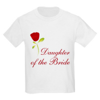 Wedding Party Red Rose Daughter of the Bride Tees