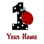 1 Ladybug ANY NAME! Customize