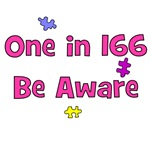 One in 166 (pink)