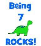 Being 7 Rocks! Dinosaur