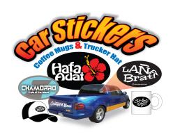 Oval Stickers, Coffee Mugs, Trucker Hat