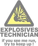 explosives technician t-shirts