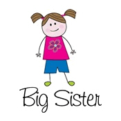 big sister shirts stick figure