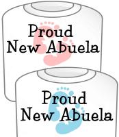 Proud New Abuela T-Shirt Girl & Boy Footprints