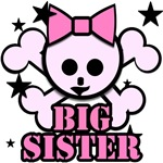 Pink bow skull big sister
