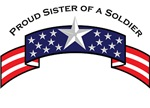 Proud Sister of a Soldier, Stars & Stripes©
