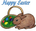 Happy Easter - Bunny and Basket