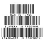 War is peace. Slavery is freedom. Ignorance is str