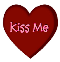 <B>Kiss Me Candy Heart T-Shirt , Apparel & Gifts</