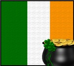 Irish Flag with Pot of Gold