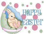 Bunny/Egg with Polka Dots