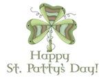 Happy St. Patty's Day Unique Shamrock Design