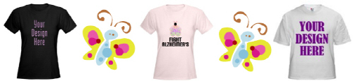 DESIGN YOUR OWN Alzheimer's / Awareness T-shirts