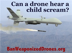 Ban Weaponized Drones