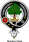 Hamilton Clan Crest Badge