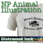 National Park T-Shirts: Animal Illustrations NEW!