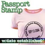 National Park T-Shirts: Passport Stamp