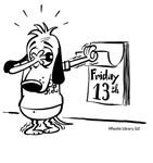 Superstitious Doggy - Friday the 13th!