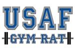 US AIR FORCE GYM RAT T-SHIRTS