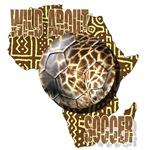 Giraffe Soccer Africa Map