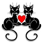 Black Cat Love T-Shirts & Gifts!