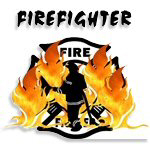 Firefighter Silhouette Gifts feature firefighters facing the flames ready to attack the fire.