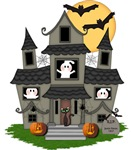 Halloween Haunted House Ghosts