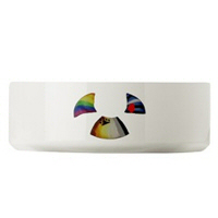 PET BOWLS--BEAR_LEATHER AND RAINBOW PRIDE