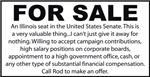 For Sale - Illinois Senate Seat