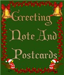 {CHRISTMAS GREETING, POST AND NOTE CARDS}