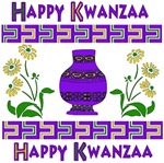 Happy Kwanzaa Vase