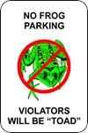 No Frog Parking
