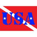 USA SCUBA FLAG T-SHIRT