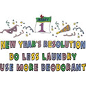 New Year's Resolution T Shirt & Gifts
