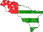 Abkhazia Flag And Map