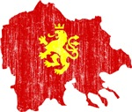 Macedonia Lion Flag And Map