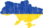 Ukraine Flag And Map