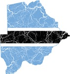 Botswana Flag And Map