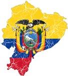 Ecuador Flag And Map