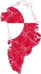 Greenland Flag And Map