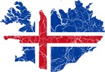 Iceland Flag And Map