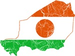 Niger Flag And Map