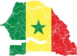 Senegal Flag And Map