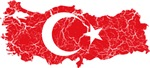 Turkey Flag And Map