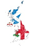 United Kingdom Subdivisions Flag And Map