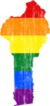 Benin Rainbow Pride Flag And Map