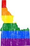 Idaho Rainbow Pride Flag And Map