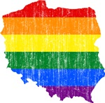 Poland Rainbow Pride Flag And Map