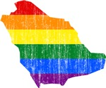 Saudi Arabia Rainbow Pride Flag And Map