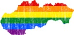 Slovakia Rainbow Pride Flag And Map